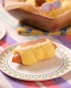 発酵なし!フライパンで簡単ウインナーパン