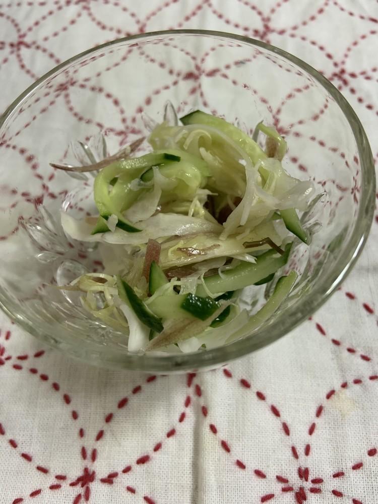 胡瓜と茗荷の即席酢の物