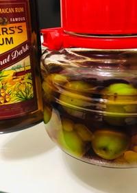 深く香るダークラムで作るラム梅酒
