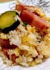 ズッキーニとベーコンの炒飯(時短)