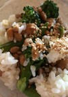 納豆とブロッコリーのマヨご飯