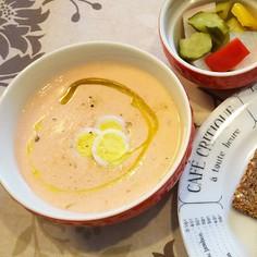 トマトと豆乳の冷たいスープ