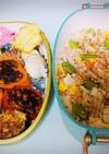 カラフルピーマン肉詰めと石狩寿司弁当