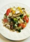 キヌア もち麦 蒸し鶏 クミン サラダ