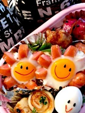 お弁当☆お花のウインナー☆☆