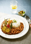 大豆のお肉のスパイシーキーマカレー