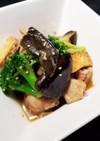 鶏肉と茄子のピリ辛味噌炒め