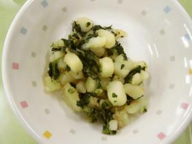 【離乳食】青菜のポテトサラダ