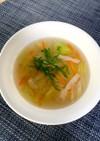 レタスとベーコンのさっぱりスープ(^^)
