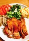 パリパリ皮の鶏モモ照焼き