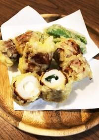 簡単♡青じそチーズちくわの天ぷら