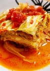 キャベツベーコンひき肉のトマトクリーム煮