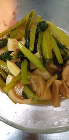 破竹と小松菜のおかか煮