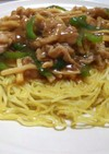 青椒肉絲風あん のパリパリかた焼き麺