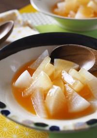 【離乳食中期】大根煮ベビポタ野菜あんかけ