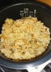 ツナとなめたけの炊き込みご飯  生姜風味