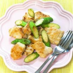 アスパラガスと鶏むね肉の塩炒め☆