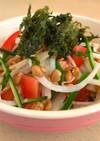 海苔と納豆で大根サラダ