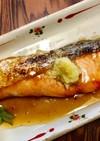 鮭の照り焼き*生姜のせ*簡単