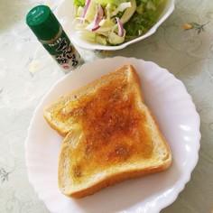 甘じょっぱ☆はちみつ山椒トースト