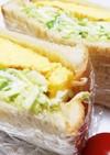 朝食に簡単!キャベツたっぷりサンドイッチ