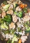 豚こま団子としらすの生姜炒め煮