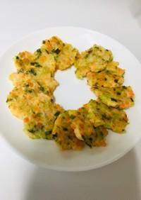 離乳食後期:鮭と野菜のお好み焼き