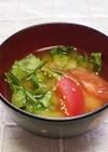 ☆さっぱり♪トマト・レタスの味噌汁☆