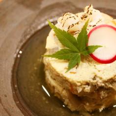 鱧の子と新ごぼうの玉子豆腐