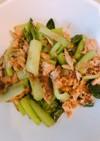 小松菜のツナオカカ炒め 一品 簡単