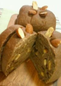 ごろごろアーモンド♥ココア豆腐パン