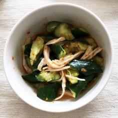 韓国風たたきキュウリと鶏肉の超簡単サラダ