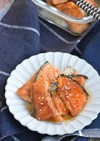 鮭のガーリック醤油照り焼き