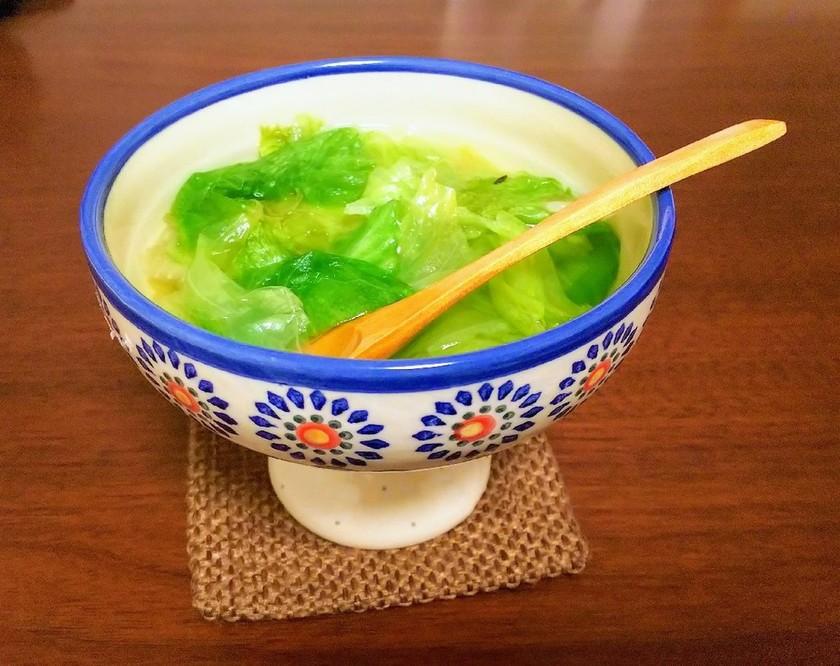 レタスの中華風スープ