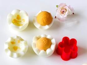 ゆで卵をかわいくカット