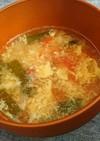 にらとトマトのとろとろ中華スープ