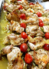 鶏もも肉とキャベツのオーブン焼き
