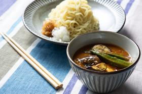 夏野菜がおいしい♪冷やしカレーつけ麺