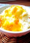 ミルクかき氷マンゴークリームチーズソース