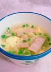 ブロッコリースプラウトでふわふわ卵スープ
