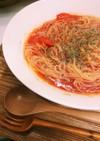 冷製トマトスープパスタ~混ぜるだけスープ