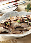 椎茸と白身魚のトウチ蒸し