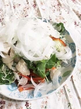 チキンと千切りキャベツのサラダ