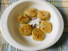 離乳食後期:バナナのパンケーキ(おやつ)