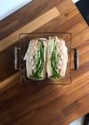 照り焼きチキンの具沢山サンドイッチ