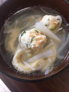 大根おろし汁の鶏スープ
