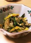 我が家の夏野菜のさっぱりポン酢炒め