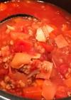 もち麦のトマトスープ