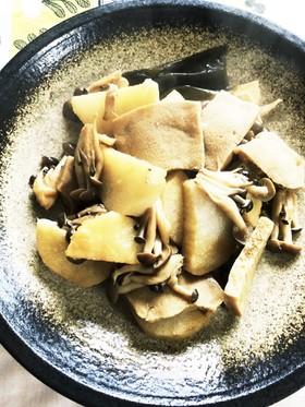 長芋と高野豆腐の揚げ煮