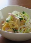 ハムときゅうりと卵の春雨サラダ